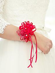 economico -Bouquet sposa Braccialetto floreale Da sera / Ricevimento di matrimonio Poliestere 0-10 cm