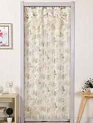 Недорогие -Панель двери Шторы занавески Гостиная Цветочный принт Хлопок / полиэфир С принтом