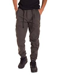 cheap -Men's Cotton / Linen Harem Pants - Solid Colored