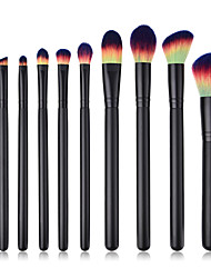 cheap -10-Pack Makeup Brushes Professional Make Up Nylon fiber Comfy Wooden / Bamboo