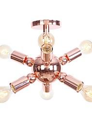 abordables -6-luz Montage de Flujo Luz Ambiente - Mini Estilo, Nuevo diseño, 110-120V / 220-240V Bombilla no incluida