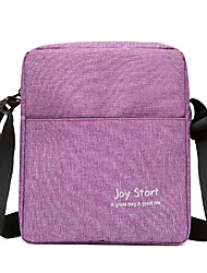 cheap -Unisex Bags Polyester / Nylon Shoulder Bag Zipper Gray / Purple / Brown