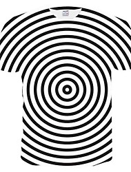 cheap -Men's T-shirt - Striped Mesh