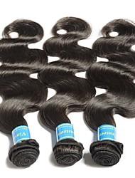 baratos -3 pacotes Cabelo Brasileiro / Cabelo da Birmânia Onda de Corpo Cabelo Virgem Cabelo Humano Ondulado / Tecer 8-28 polegada Tramas de cabelo humano Fabrico à Máquina Melhor qualidade / 100% Virgem