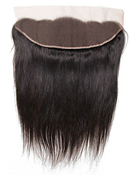 cheap -Yavida Indian Hair 4x13 Closure Straight Free Part Swiss Lace Human Hair Women's With Baby Hair / Soft / Silky Wedding / Party Evening / Party / Evening / African American Wig
