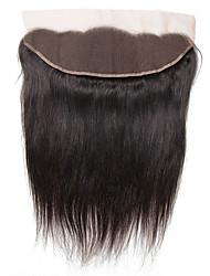 Недорогие -Бразильские волосы 4X13 Закрытие / Бесплатно Part Прямой Бесплатный Часть Швейцарское кружево Натуральные волосы Жен. Шелковистость / обожаемый / Для темнокожих женщин