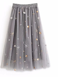 abordables -Mujer Activo Columpio Faldas Galaxia