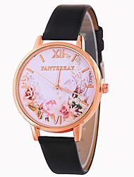 Недорогие -Жен. Наручные часы Китайский Повседневные часы / Милый PU Группа Цветы / Мода Черный / Белый / Синий