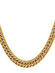 Недорогие -Муж. Толстая цепь Ожерелья-цепочки - Нержавеющая сталь модный, Мода Золотой, Черный, Серебряный 55 cm Ожерелье Бижутерия 1шт Назначение Подарок, Повседневные