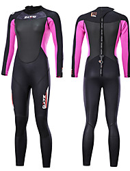 cheap -Women's Full Wetsuit 3mm SCR Neoprene Diving Suit Anatomic Design, Stretchy Long Sleeve Back Zip