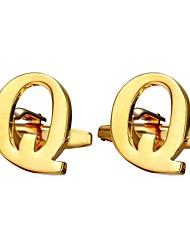 Недорогие -Буквы Серебряный / Золотой Запонки Медь Алфавит металлический / Формальная Муж. Бижутерия Назначение Подарок / Повседневные