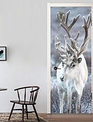 Недорогие -Декоративные наклейки на стены / Дверные наклейки - Простые наклейки Религиозная тематика / 3D Гостиная / Спальня