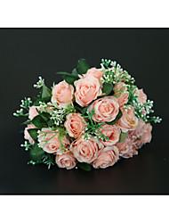 economico -Bouquet sposa Bouquet Matrimonio / Ricevimento di matrimonio Poliestere 11-20 cm