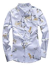 cheap -Men's Shirt - Floral / Geometric Print