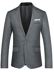 cheap -Men's Blazer-Solid Colored Notch Lapel / Long Sleeve / Work