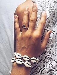 cheap -Women's Single Strand Strand Bracelet - Shell Shell Stylish, Trendy, Sweet Bracelet White / Black For Daily / Holiday