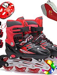 baratos -Para Meninas Patins em Linha / Protecção de Joelhos / Bolsa para Skate Crianças Flash Ajustável, Ventilação ABEC-7 - Vermelho, Azul, Rosa claro