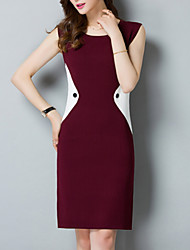 cheap -women's slim sheath dress knee-length