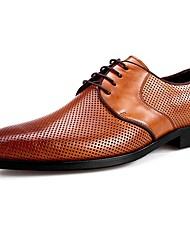 abordables -Hombre Zapatos formales Cuero de Cerdo Primavera Oxfords Negro / Marrón