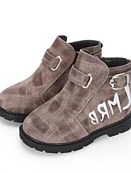 Недорогие -Мальчики Обувь Свиная кожа Весна & осень Обувь для малышей Ботинки В клетку для Дети (1-4 лет) Серый / Темно-красный / Темно-русый