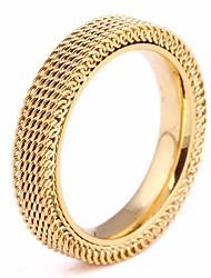 baratos -Casal Vazado Anel de banda - Aço Titânio Criativo Estiloso, Clássico, Europeu 6 / 7 / 8 Dourado / Prata / Ouro Rose Para Casamento / Festival