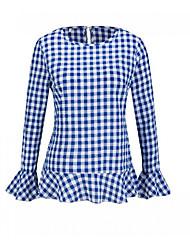 preiswerte -Damen Schachbrett T-shirt