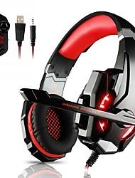 Недорогие -KOTION EACH G9000 Головная повязка Проводное Наушники Наушники ABS + PC Игры наушник С микрофоном / С регулятором громкости наушники