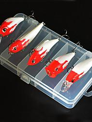 abordables -5 pcs pcs Cebos Señuelos duros / Pececillo / Manivela Smart / Fácil de Usar Pesca de Mar / Pesca a la mosca / Pesca de baitcasting