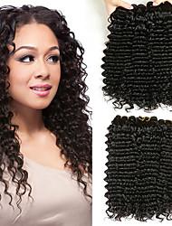 Недорогие -6 Связок Перуанские волосы Крупные кудри Натуральные волосы Человека ткет Волосы / Пучок волос / One Pack Solution 8-28 дюймовый Естественный цвет Ткет человеческих волос