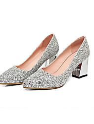 economico -Per donna Scarpe Sintetico Inverno Comoda / Decolleté scarpe da sposa Quadrato Oro / Argento / Rosso / Matrimonio