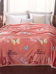 Недорогие -Коралловый флис, Активный краситель Геометрический принт / Мультипликация Хлопок / полиэфир одеяла
