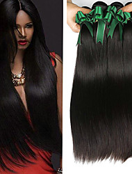 cheap -4 Bundles Malaysian Hair Straight Human Hair Natural Color Hair Weaves / Extension 8-28 inch Human Hair Weaves Machine Made Best Quality / Hot Sale / 100% Virgin Natural Natural Color Human Hair