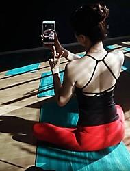 Недорогие -Жен. Глубокий V-образный вырез Открытая спина Йога Вверх Черный Серый Красный Виды спорта Сплошной цвет Безрукавка Zumba Бег Фитнес Спортивная одежда Дышащий Быстровысыхающий Впитывает пот и влагу