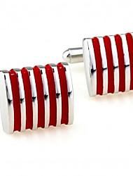 Недорогие -Кубический Красный Запонки Медь Флаг Формальная / Мода Муж. Бижутерия Назначение Официальные / Профессиональный стиль