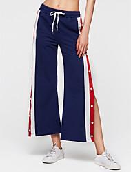 cheap -Women's Basic Sweatpants Pants - Solid Colored / Striped Rivet
