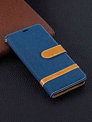 cheap -Case For Nokia Nokia 5.1 / Nokia 3.1 Wallet / Card Holder / with Stand Full Body Cases Solid Colored Hard Textile for Nokia 5.1 / Nokia 3.1 / Nokia 2.1