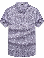cheap -Men's Polo - Geometric Shirt Collar / Short Sleeve