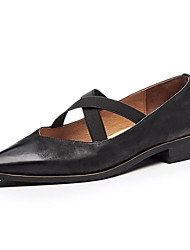 preiswerte -Damen Schuhe Leder Sommer Pumps High Heels Niedriger Heel Schwarz / Rot