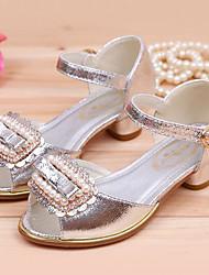 abordables -Chica Zapatos PU Primavera verano Zapatos para niña florista Sandalias Pedrería para Niños Dorado / Plateado / Rosa