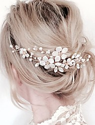 Alloy Hair Accessory with Flower 1 pc Wedding / Special Occasion Headpiece
