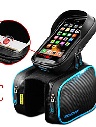 preiswerte -CoolChange Handy-Tasche / Fahrradrahmentasche / Top Schlauchbeutel 6.2 Zoll Touchscreen, Wasserdicht, Reflektierend Radsport für Samsung Galaxy S6 / iPhone 5c / iPhone 4/4S Schwarz / iPhone 8/7/6S/6
