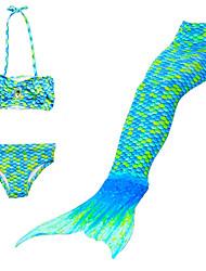 abordables -Fille Mignon Actif Imprimé Maillots de Bain, Coton Polyester Sans Manches Vert