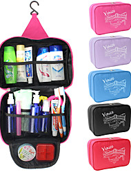 cheap -Travel Bag / Cosmetic Bag / Travel Toiletry Bag Waterproof / Large Capacity / Moistureproof for Clothes Fabric 25*17*8.5 cm Solid Colored Travel