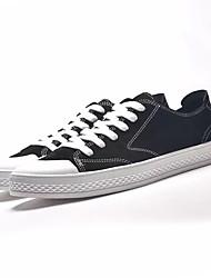 Недорогие -Муж. Свиная кожа Осень Удобная обувь Кеды Для прогулок Черный / Серый / Хаки