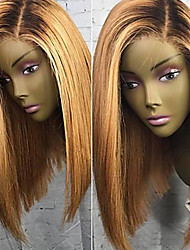 cheap -Virgin Human Hair Lace Front Wig Brazilian Hair Straight Blonde Wig Short Bob / Side Part / Free Part 180% 8-26 inch Hot Sale / Natural Hairline / 100% Virgin Blonde Women's Short Human Hair Lace Wig