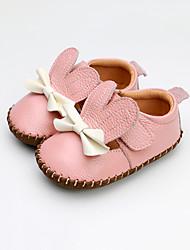 Недорогие -Девочки Обувь Кожа Лето Обувь для малышей Кеды Бант / На липучках для Дети Оранжевый / Желтый / Розовый