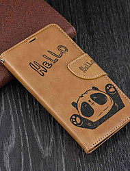 cheap -Case For Nokia Nokia 5 / Nokia 3 Wallet / Card Holder / with Stand Full Body Cases Panda Hard PU Leather for Nokia 5 / Nokia 3 / Nokia 1