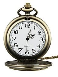 Недорогие -Для пары Карманные часы Кварцевый С гравировкой Нержавеющая сталь Группа Аналоговый Мода Бронза - Бронзовый