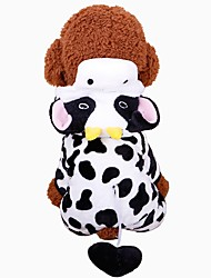 cheap -Rodents / Dogs / Cats Coat / Sweatshirt / Tuxedo Dog Clothes Animal Black / White 100% Coral Fleece Costume For Pets Female Sports & Outdoors / Animals