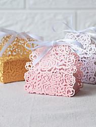 Недорогие -Овал Розовая бумага Фавор держатель с Ленты Подарочные коробки - 50 шт